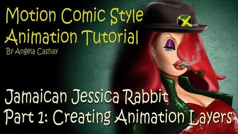 Motion Comic Style Tutorial Part 1: Jamaican Jessica Rabbit