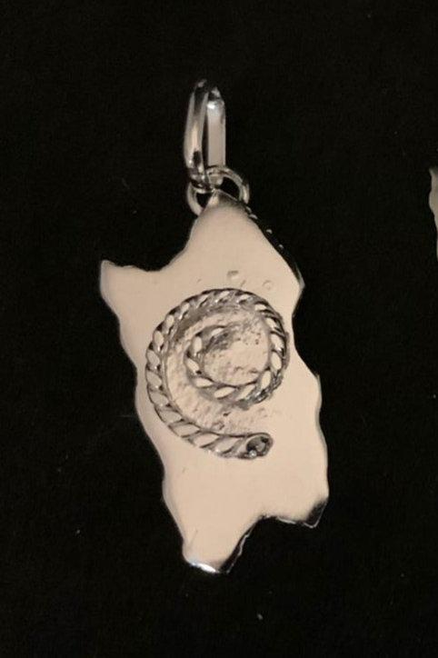 Ciondolo Sardegna in Argento Artigianale  con Spirale