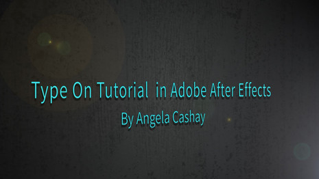 Adobe After Effects Tutorial: Type On Effect