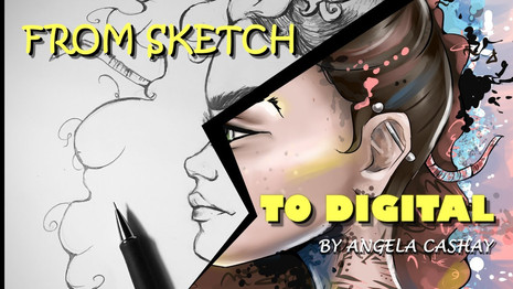 Digital Speed Paint: From Sketch To Digital
