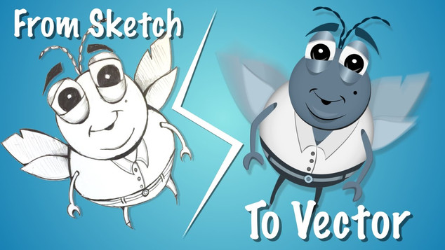 "Speed Vector Art : From A Sketch To Vector Art ""Bug"""