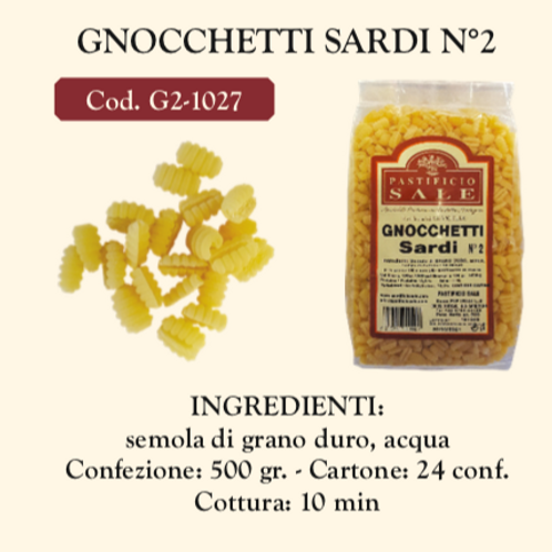 Gnocchetti Sardi nø 2 500 gr