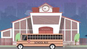 Animation Loop: Rainy School Day