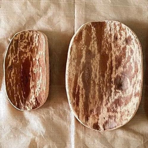 Vassoio Sardo Artigianale in  Sughero Naturale 30 cm