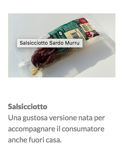 Salsiciotto Gr.140