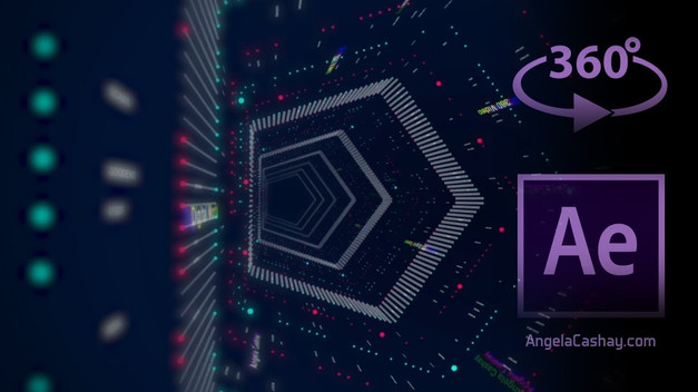 360 Animated Video: After Effects 3D Digital Tunnel