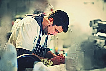 Carlos cooking paella