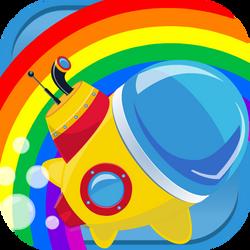 Little rainbow submarine