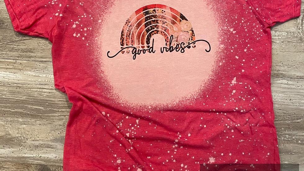 Ladies Junior Slim Fit Good Vibes Sublimation T-Shirt