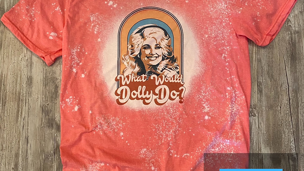 Womens Bleached Dolly Sublimation T-Shirt