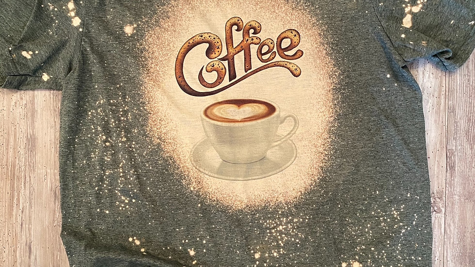 Womens Bleached Coffee Sublimation T-Shirt