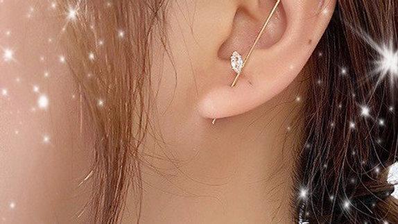 Gold Bling Ear Wrap Hook Earring