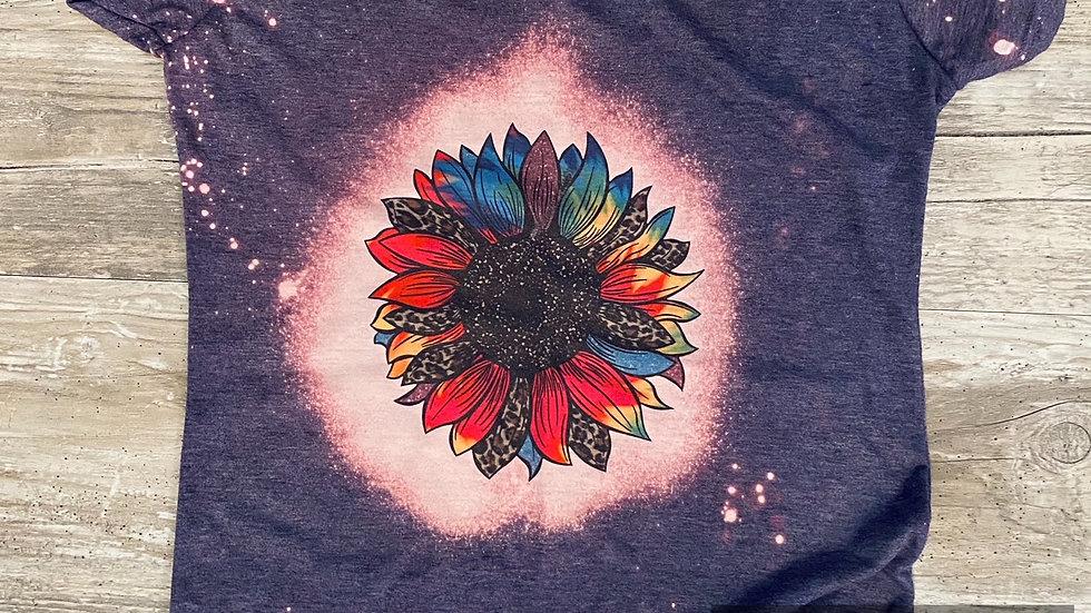 Ladies Junior Slim Fit Sunflower Sublimation T-Shirt
