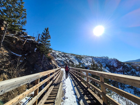 Myra Canyon Hike-Winter Hiking