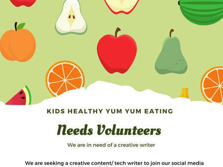 New Volunteer Position: Creative Writer!