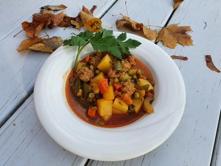 Herbstlicher Kartoffel-Rindfleischeintopf