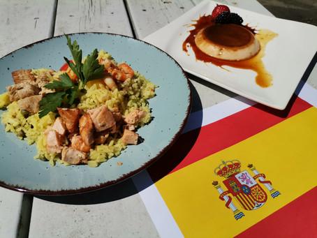 Paella und Crema Catalan