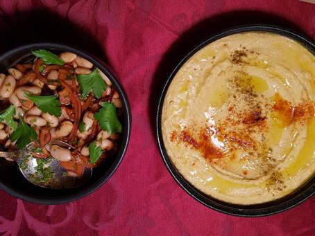 Bohnensalat mit Hummus