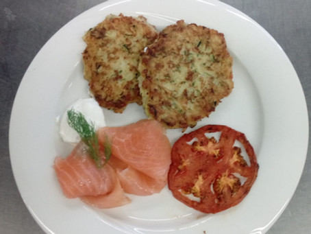 Zucchini-Reis-Puffer