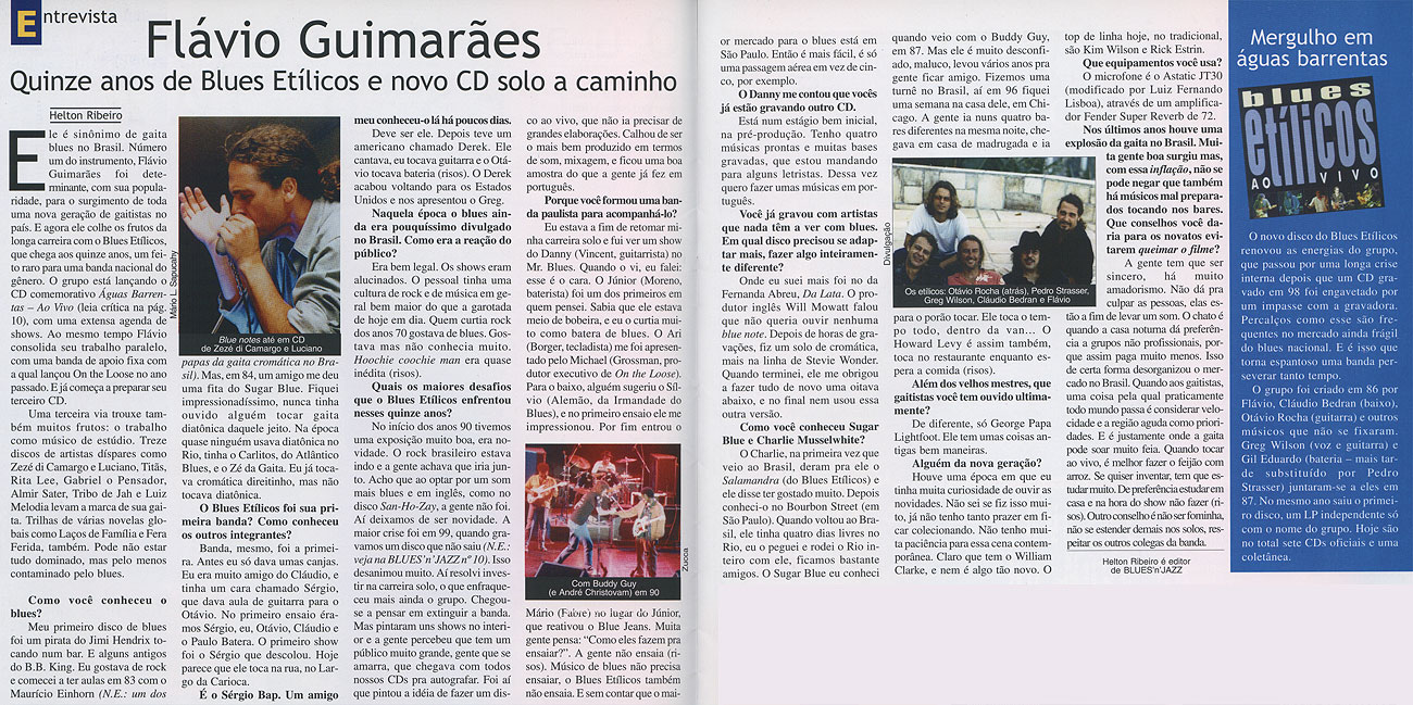 Entrevista Revista Blues'n'Jazz nº 1