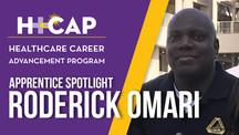 APPRENTICE SPOTLIGHT: Roderick Omari - Registered Nurse