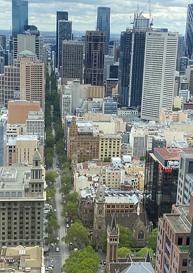 birds eye view of Melbourne office build