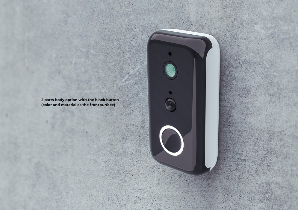 smart doorbell design version in black