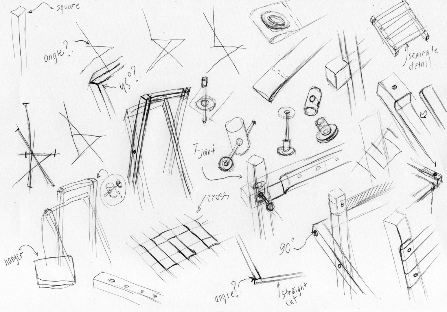 This is our first BOW chair sketch