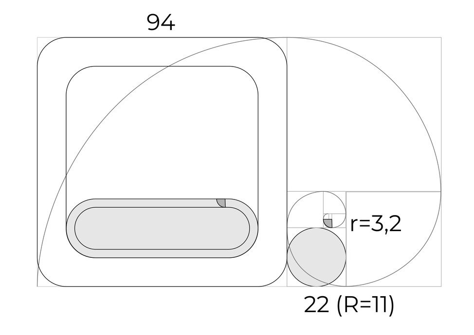 Golden Ratio shape refinement