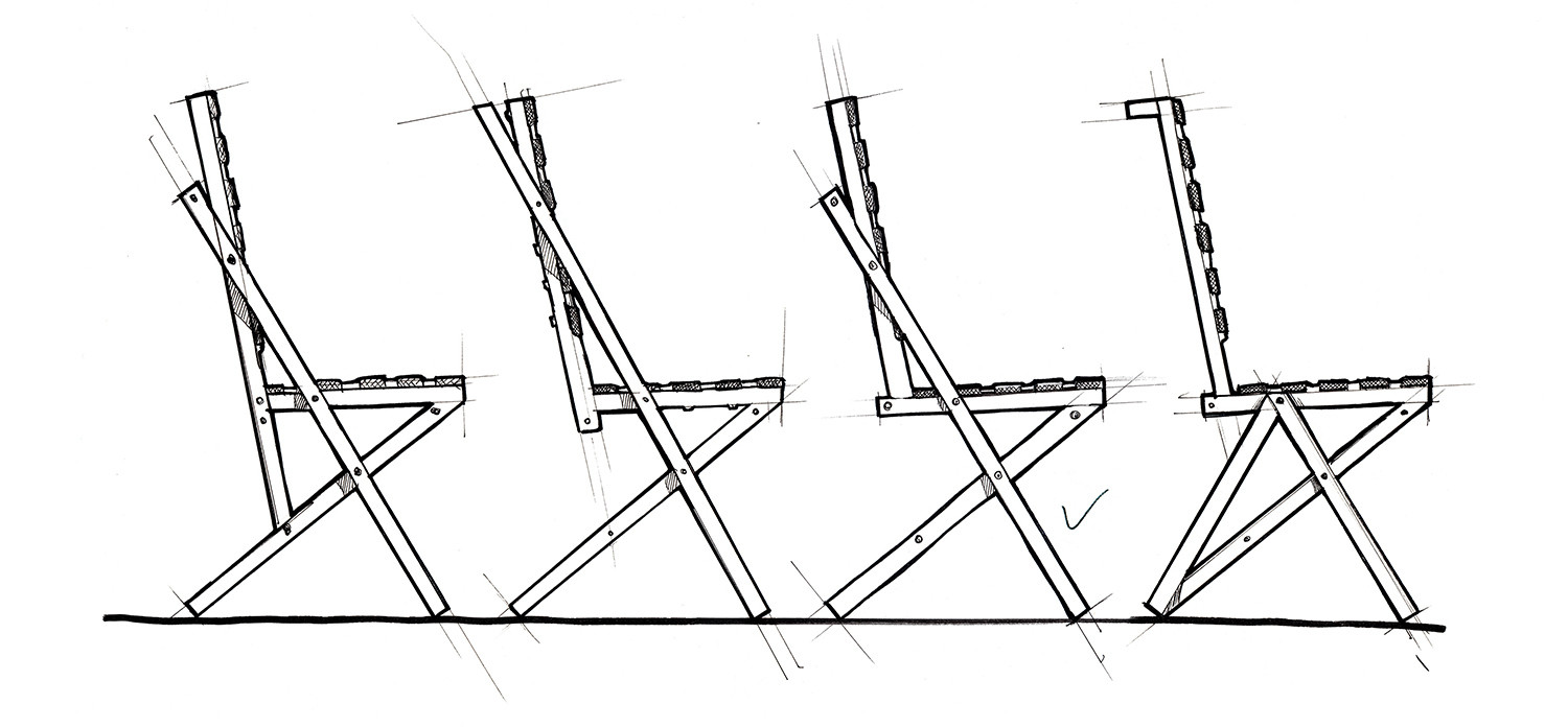 BOW chair versions sketch