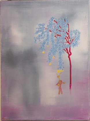 arbre à plumes et pommes d'or