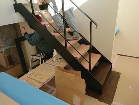 大井町 Y邸 階段取付作業