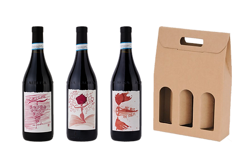 Langhe DOC Dolcetto + Langhe DOC Barbera +Langhe DOC Nebbiolo + scatola