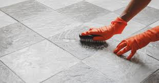 Remove and Clean Mortar Off of Tile Floor Tile