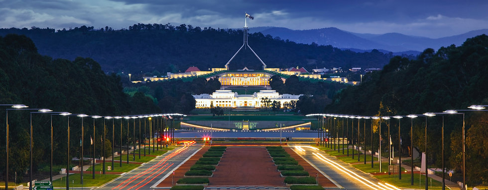 C/ Upsplash 2021 - Image of Parliament house in Canberra, ACT