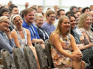 Image of seated crowd at address from 2019 EPHEA conference