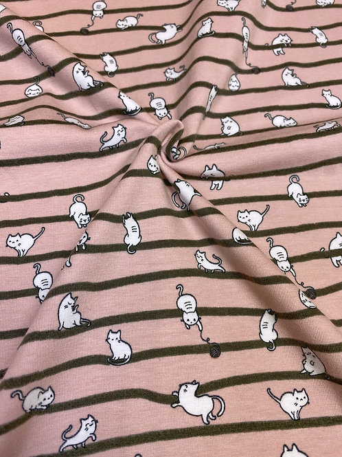 Pink kitties - PRE-WASHED