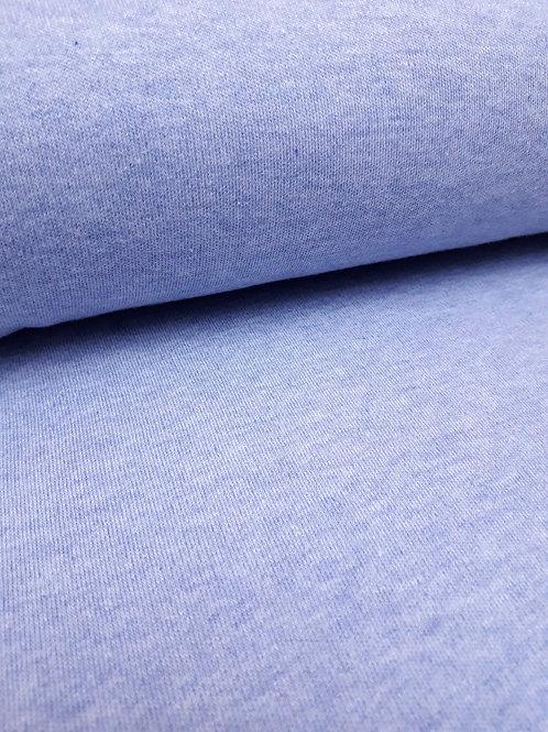 Blue Marl - Cotton interlock- PRE-WASHED