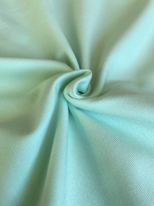 Pale mint 95/5 Cotton Elastane - PRE-WASHED