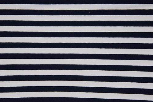 Navy and white 1cm stripes