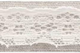 20mm White stretch lace