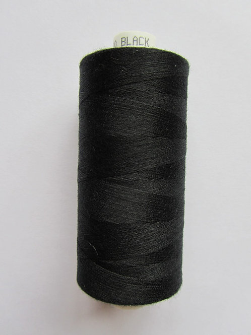 Black Moon spun polyester thread 1000m
