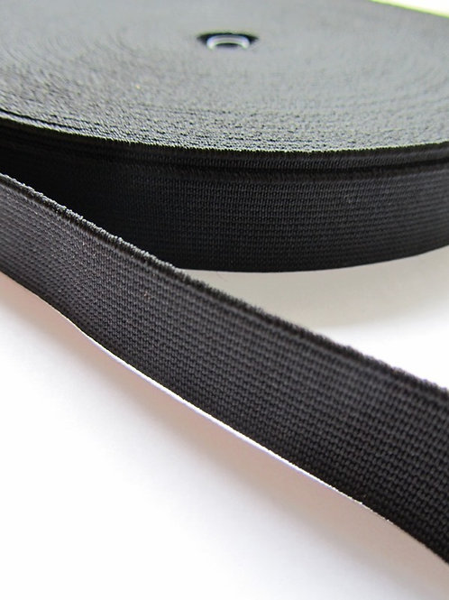 Black woven elastic 19mm