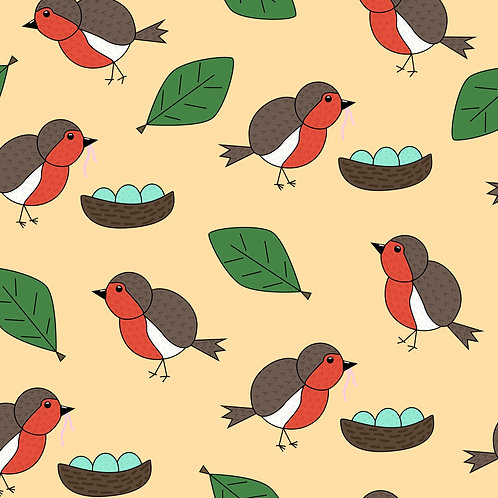 Robins, yellow