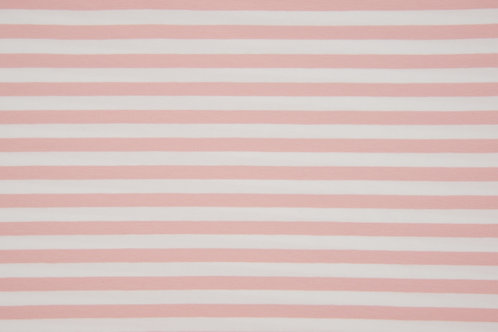 Pink and white 1cm stripes