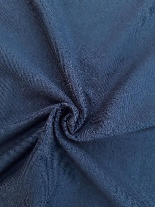 Navy blue 95/5 Cotton Elastane