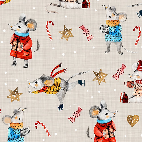 Mouse's Holiday - Grey
