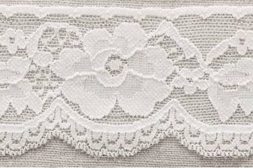 58mm White stretch lace