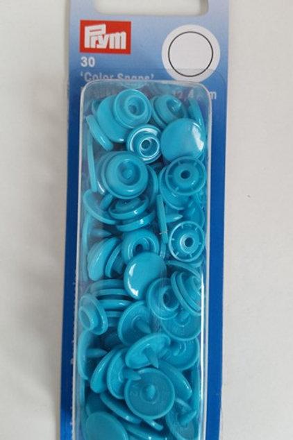 12.4mm Prym Snaps Turquoise