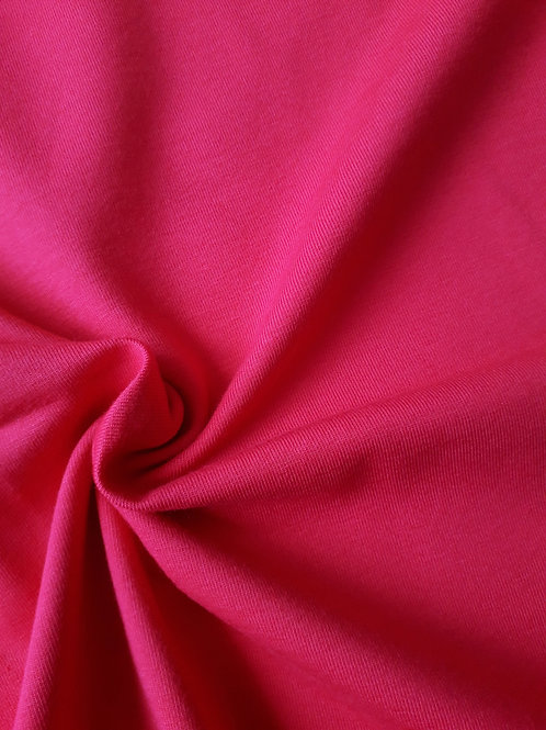Raspberry 95/5 Cotton elastane - PRE-WASHED